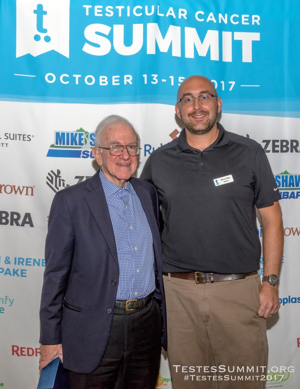 Dr Lawrence Einhorn with Testes Summit Co-Founder and Chair, Steve Pake