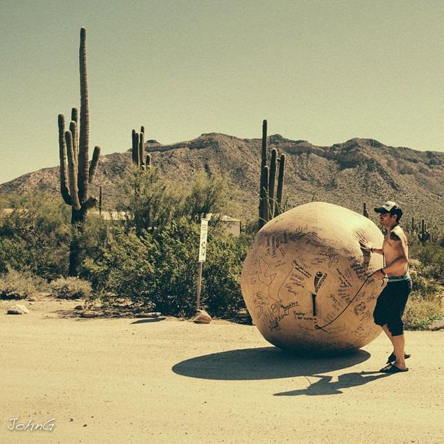 Mr.Ballsy in New Mexico, September 2014 via Facebook.