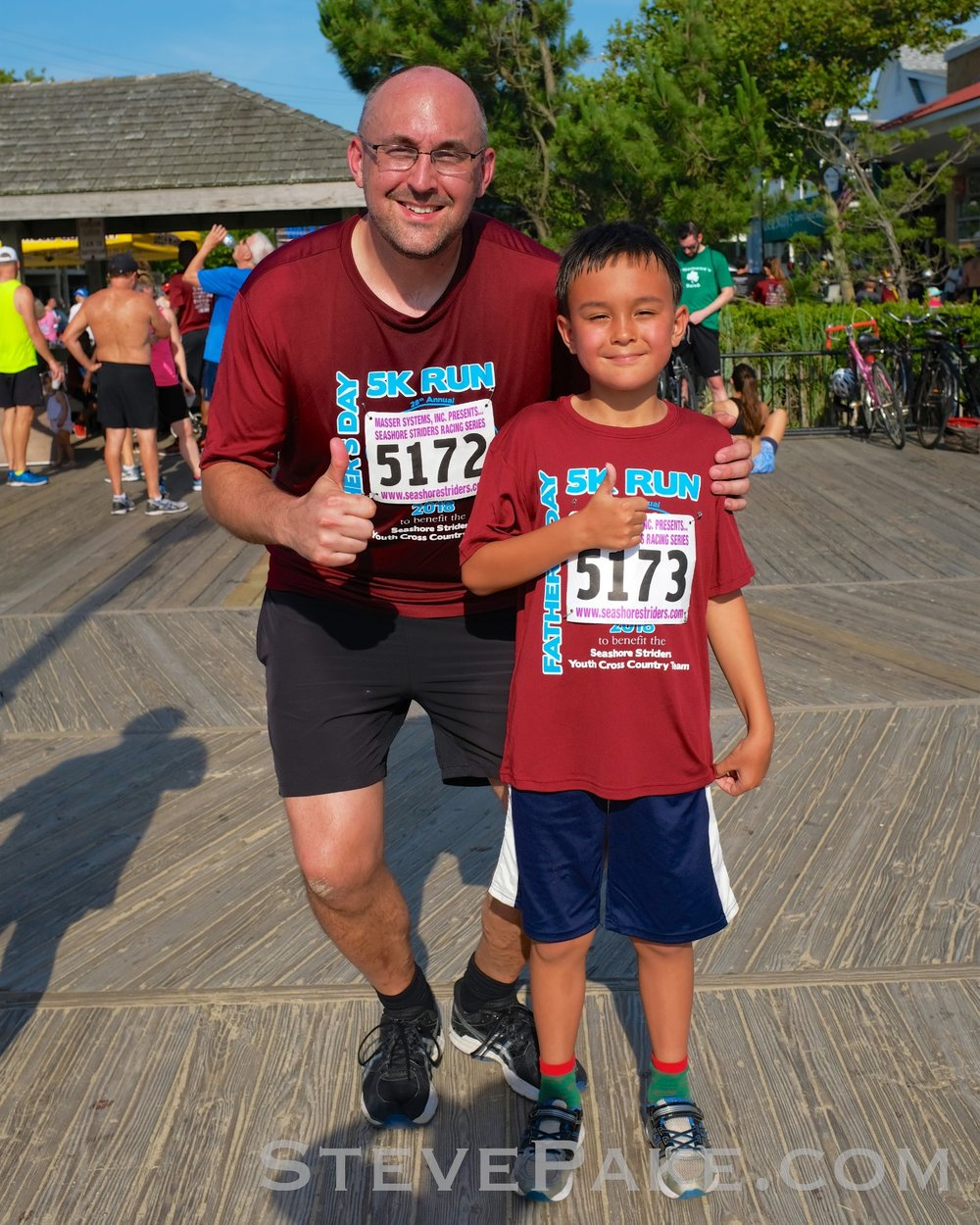Our first Father-Son Father's Day 5K at Rehoboth Beach, DE will be a new tradition for us. We both did 31 minutes, but William kicked in his afterburners at the end when I was huffing and puffing and beat me by just under 20 seconds!