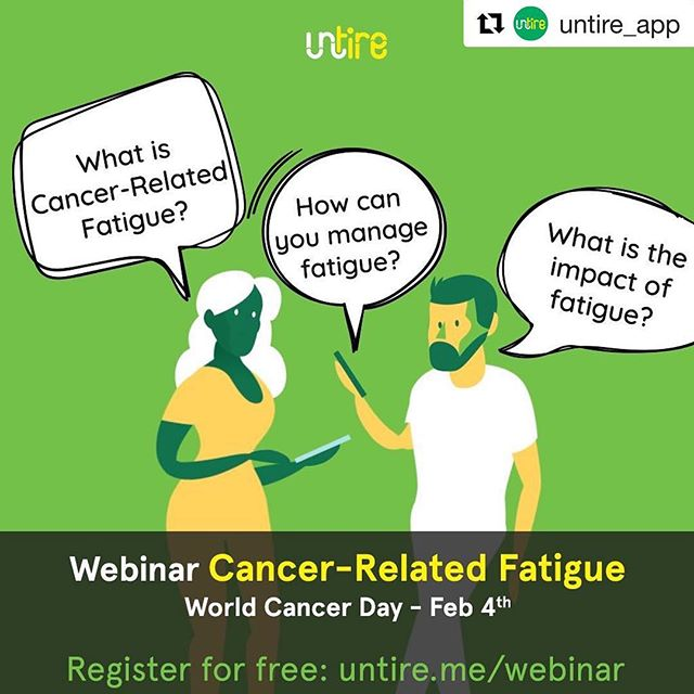 If you've struggled with post-cancer chronic fatigue as I have, check these guys out and definitely sign up for their free webinar on Feb 4th. They have a great app to help you understand and manage your cancer related fatigue, and really get this stuff. I wish these guys were around when I was struggling with fatigue after cancer. It would have made things a lot easier if I at least understood what I was dealing with. It took too long to figure it out! @untire_app 🙌🙌 I will try to be on this webinar. . #Repost @untire_app ・・・ Next Monday we will present a webinar on Cancer-Related Fatigue. Our co-founder, Dr. Kuiper and a panel of guests will have an in-depth discussion about CRF including a question and answer session.  Monday, February 4, 2019 at 4:00 PM CET Amsterdam (3:00 PM GMT London; 10:00 AM Eastern; 9:00 AM Central; 7:00 AM Pacific). Register now for free: see link in bio. 👍🏻