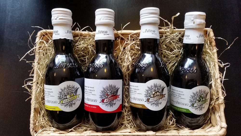 Flavoured extravergin olive oil Anfosso