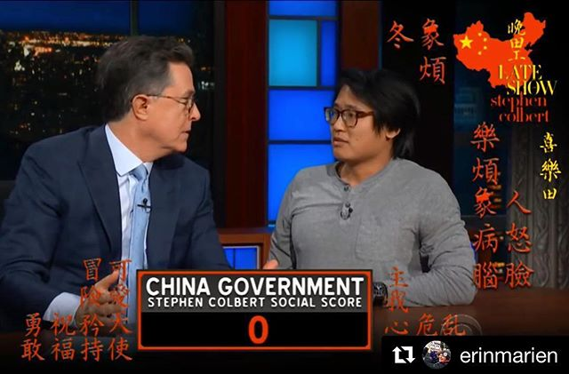 That's our dude, James Kuo!! ・・・ #Repost @erinmarien ・・・ @statuskuo14 on The Late Show with Stephen Colbert last night!!! #lateshow #colbert