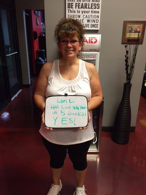 Lori lost 16 lbs of fat!
