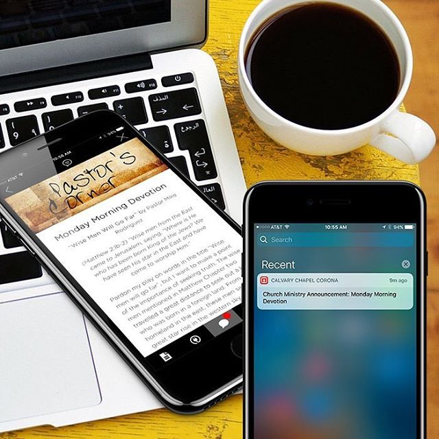 Bless your church family by sending them a weekly devotional with your custom church app. Read our post here. www.churchappsuite.com/blog/ #churchappsuite #customchurchapp #churchapps #churchappbuilder