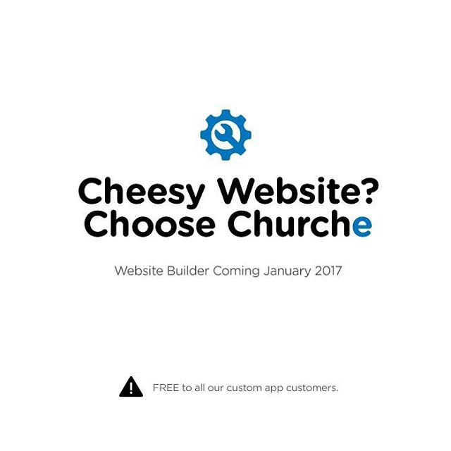 Coming January 2017. Our FREE website builder! Read more: churchappsuite.com/blog/ #churchappbuilder #churchapps #customchurchapp #churchappsuite #websitebuilder