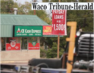 Councilman pushes for controls on Waco payday lenders