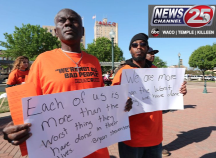 Community rallies in support of hiring felons