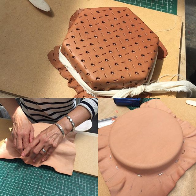 Leather moulding in progress this weekend  #weekendcourse #craftcourse #leatherfashionaccessories