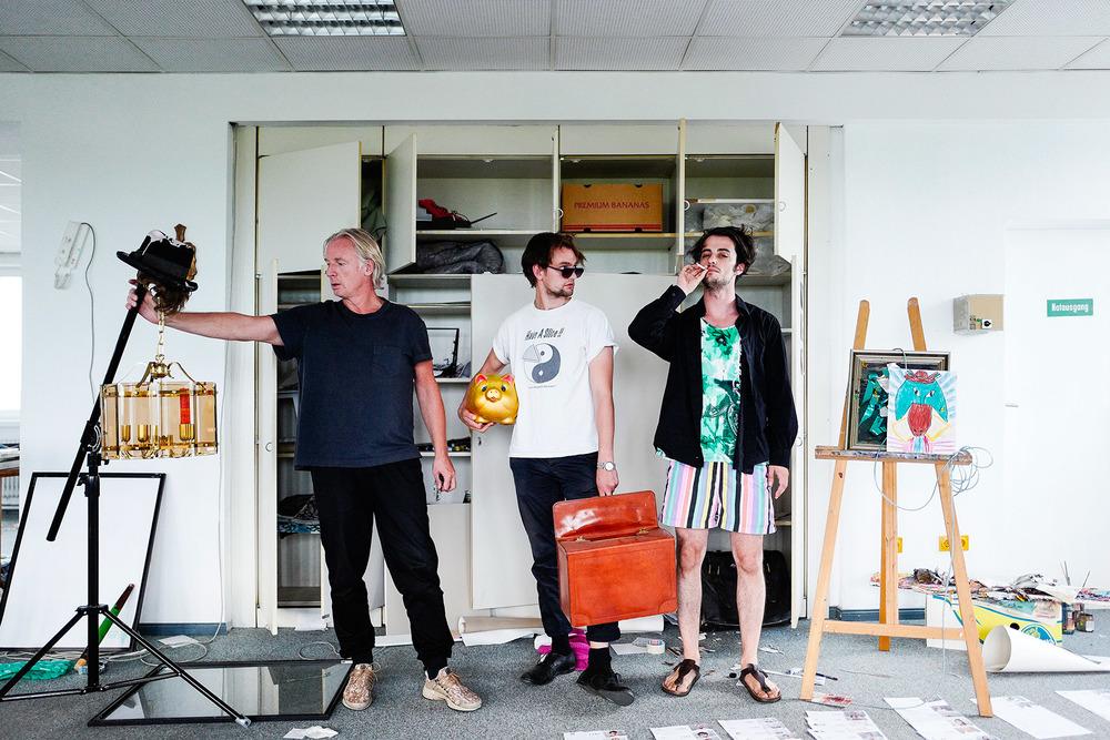 Dj Hell, Alexander Iskin & Henning Gronkowski preparing interGG, Christoph Neumann