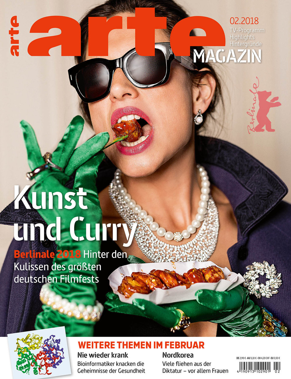 Cover ARTE Magazin, Kunst und Curry