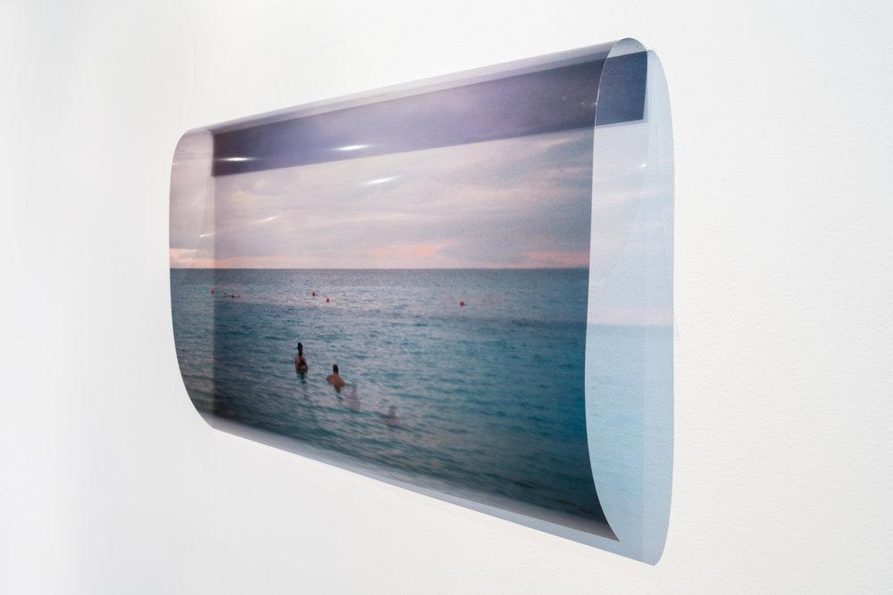 Drifters . Xan Shian. 20 x 24 in. Colour Inkjet print on transparency. 2017.