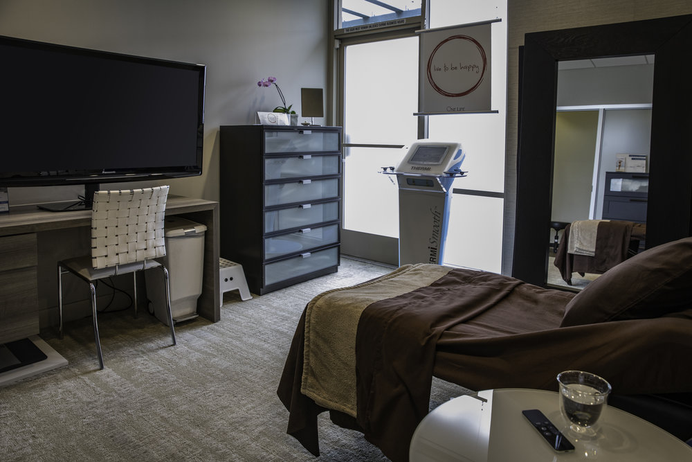 Relax in our luxurious private treatment room.