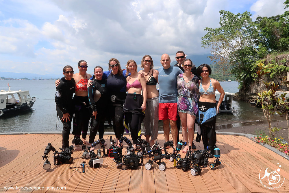 Fisheye Expedition's 2018 Lembeh Adventure Team!