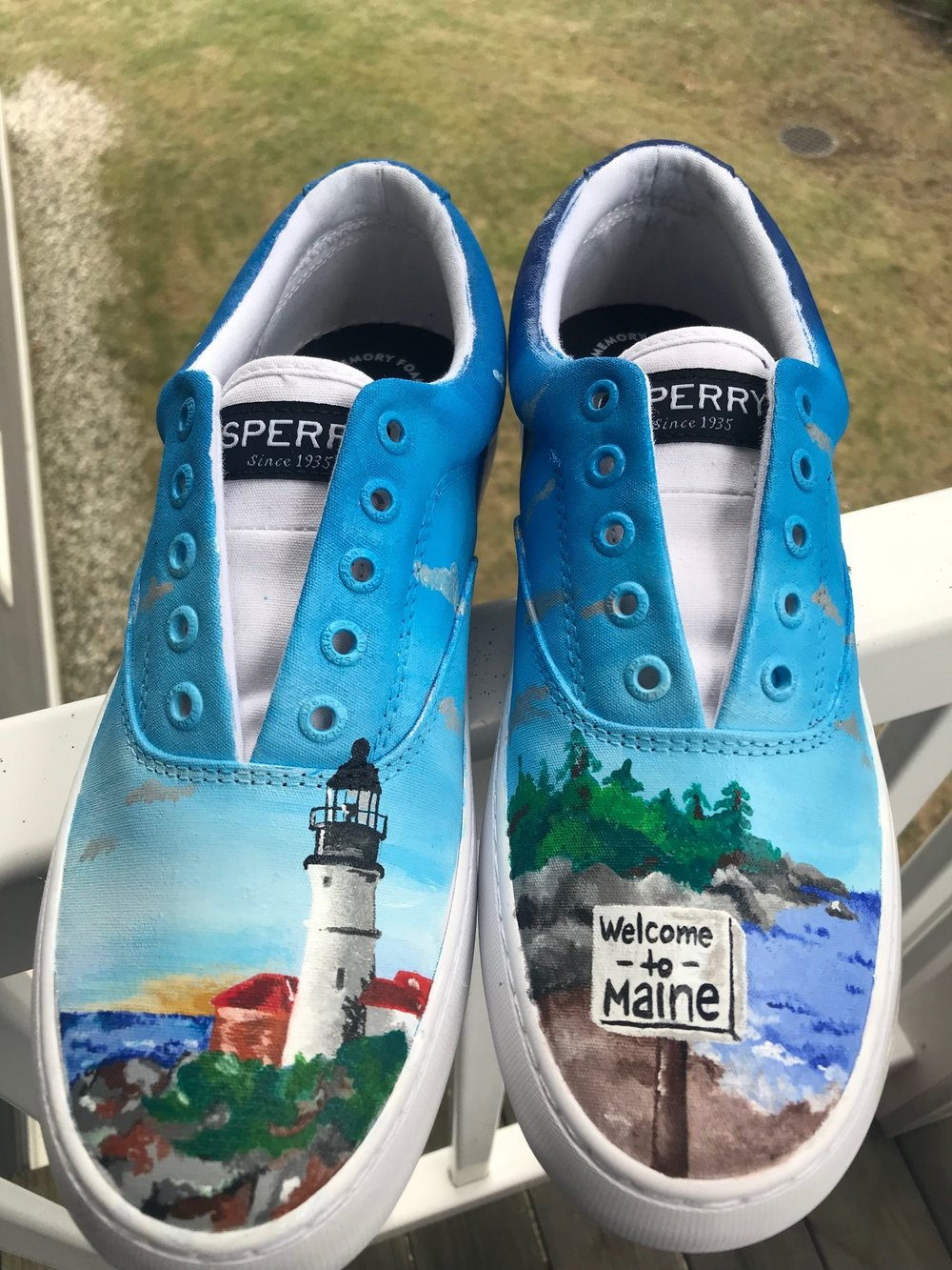 e5ddab0889ae Custom Painted Shoes — Shannon Baker Illustration