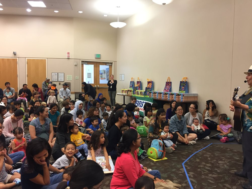 First 5 California Storytime at Santa Clara Library // part of our Library Reading campaign to promote Talk. Read. Sing. ®