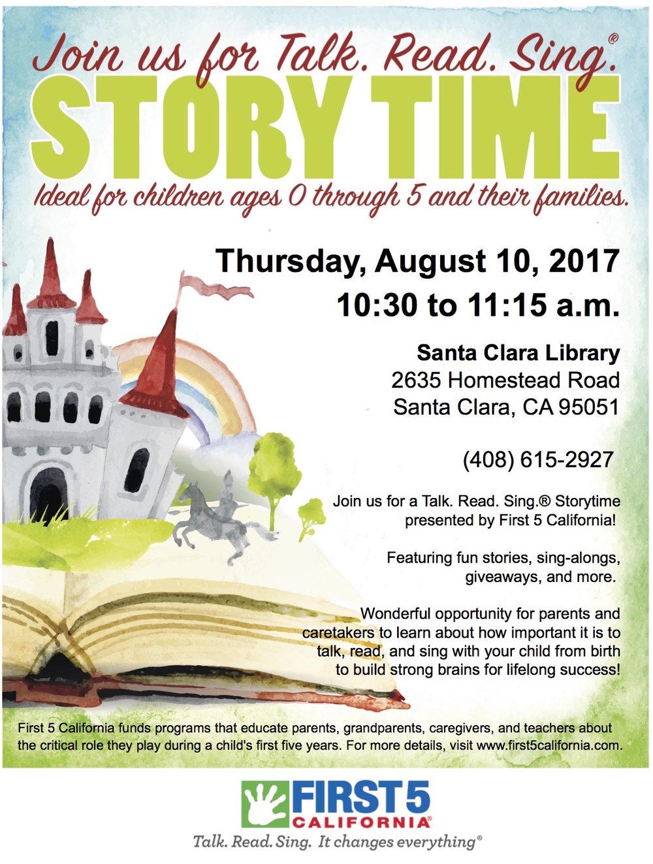 Santa Clara Library F5CA Talk. Read. Sing. Flyer.jpg