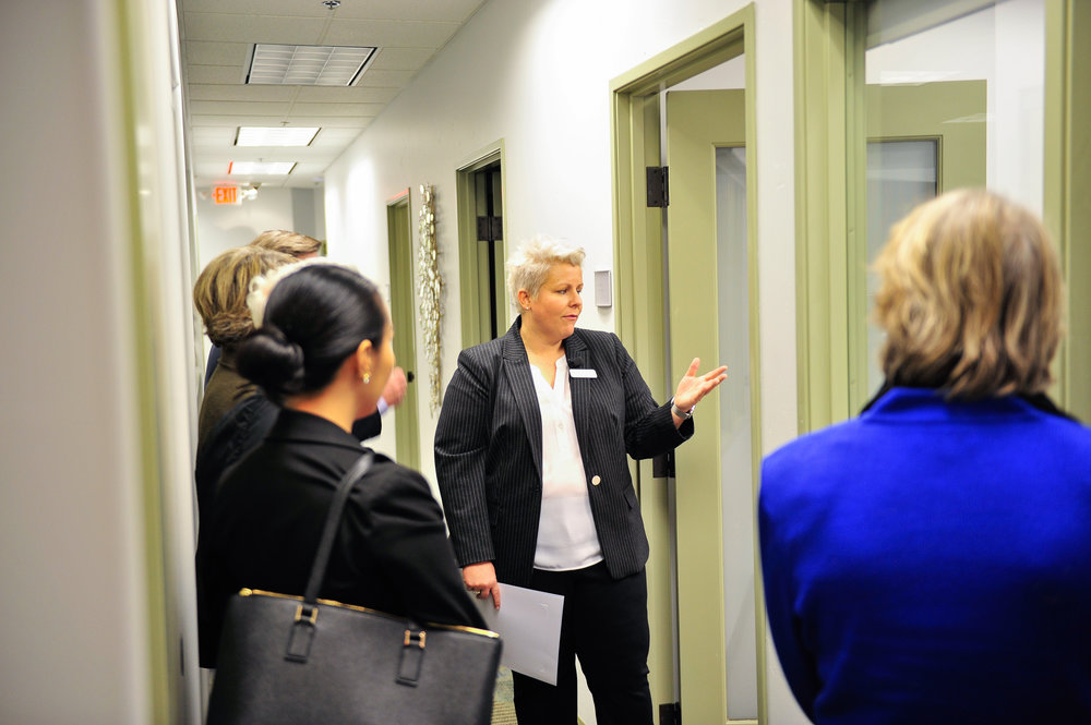 Cate Dyer gives a tour of our new Collection Center.
