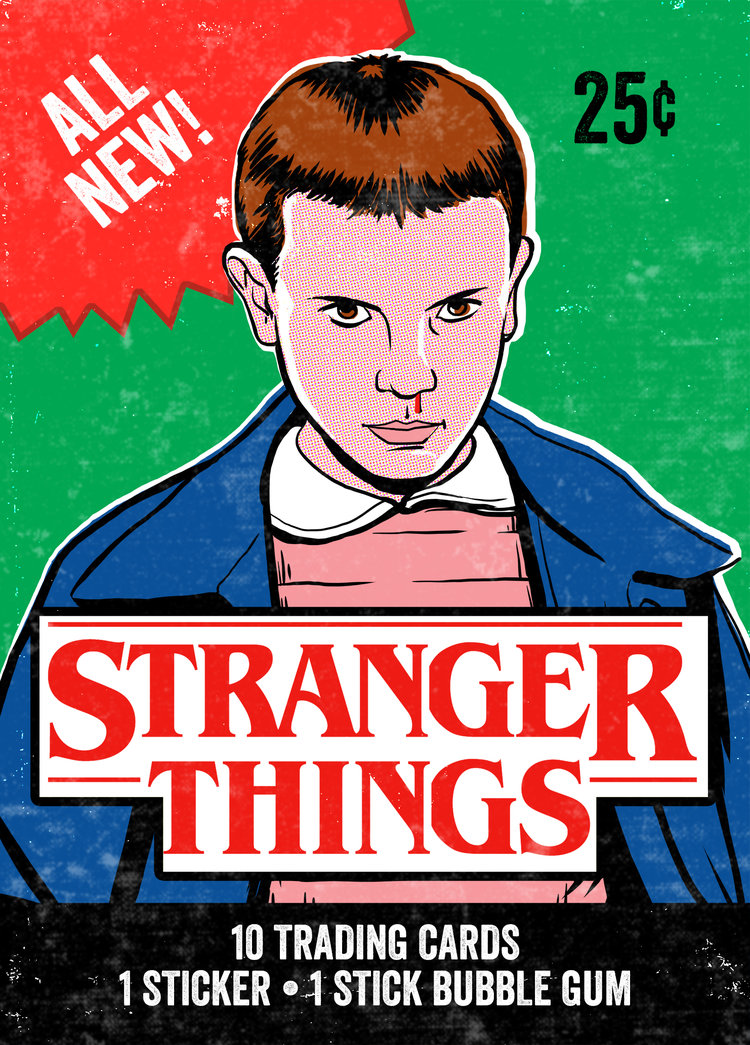 Stranger Things Wax Packs, by Tim Baron