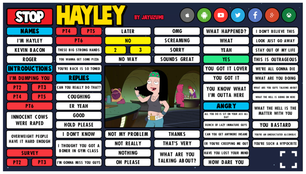 Hayley soundboard previiew