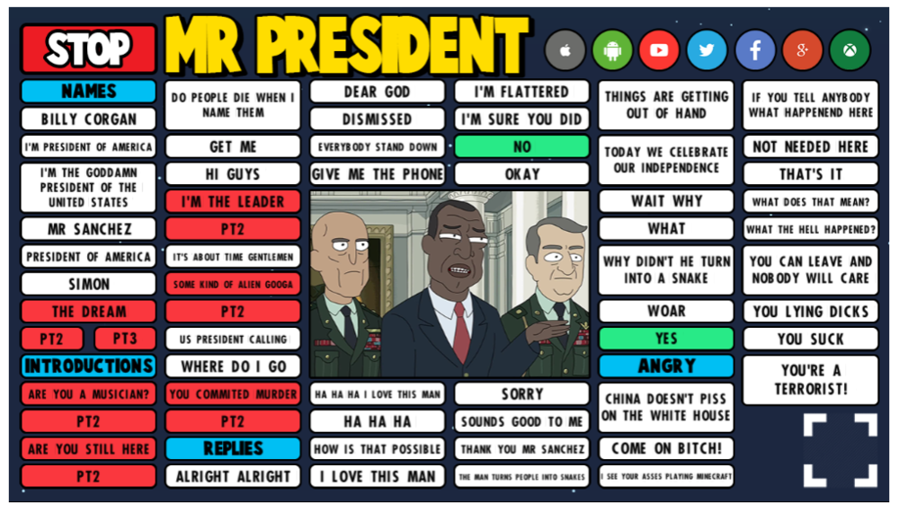 Mr President soundboard preview