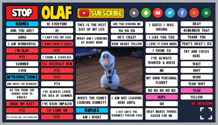 olaf soundboard preview