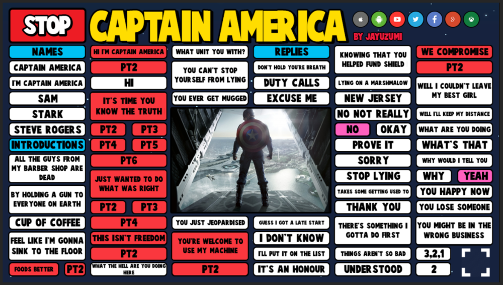 CAPTAIN AMERICA SB PREVIEW