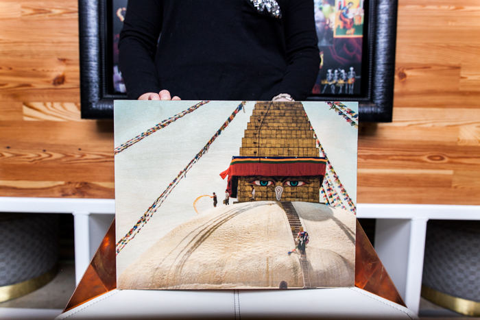 Golden Boudhanath Stupa | Kathmandu, Nepal 11x14 printed directly on 3/4'' birchwood, UV coating developed, printed and hand crafted in the USA, $55
