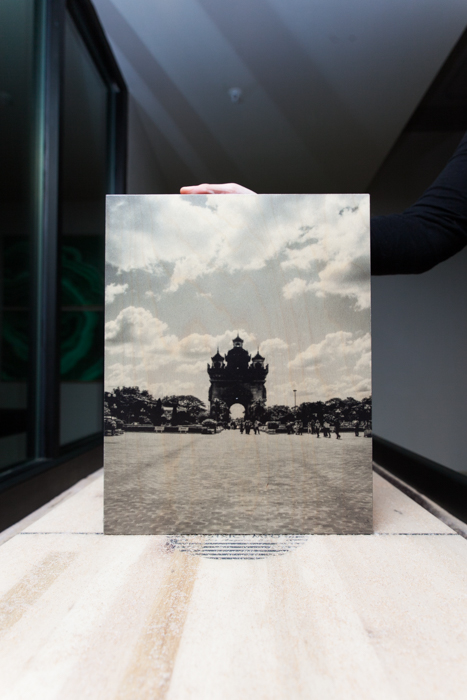 Patuxai Victory Monument | Vientiane,  Laos  11x14 printed directly on 3/4'' birchwood, UV coating developed, printed and hand crafted in the USA, $55
