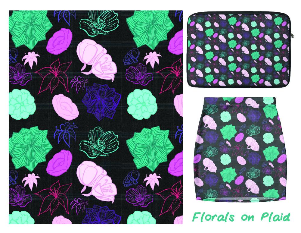 Florals on Plaid.