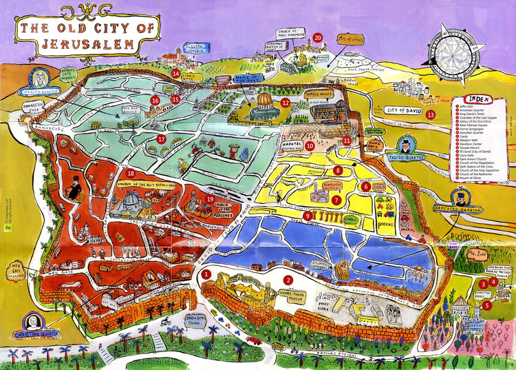 Imagineear Tourist Maps Amit trainin – Jerusalem Tourist Map