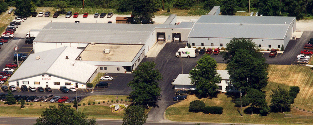 Century Label's custom printing facility in Bowling Green, Ohio circa 2003.