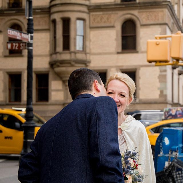 A very happy anniversary to Patricia & David! This time last year we ran all over New York to capture their elopement. Hope your day is London is just as perfect 🎄❤️