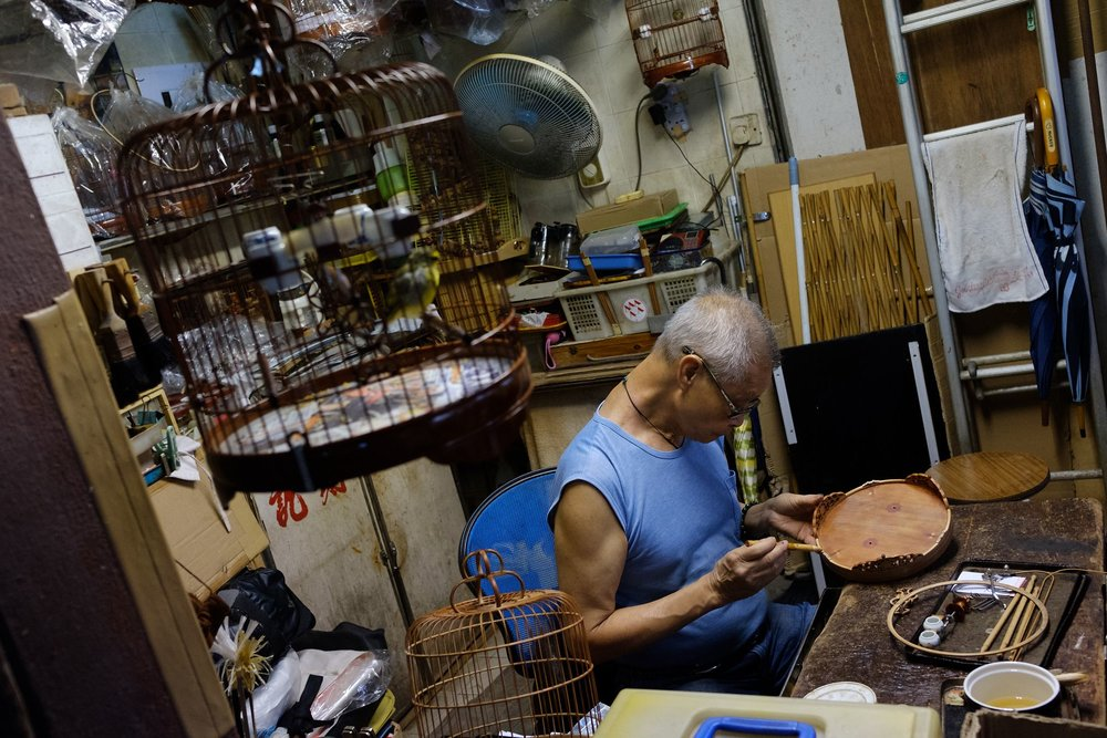 The last man to manufacture handmade bird cages in Hongkong