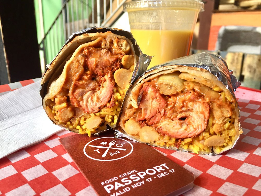 Butter Chicken Burrito