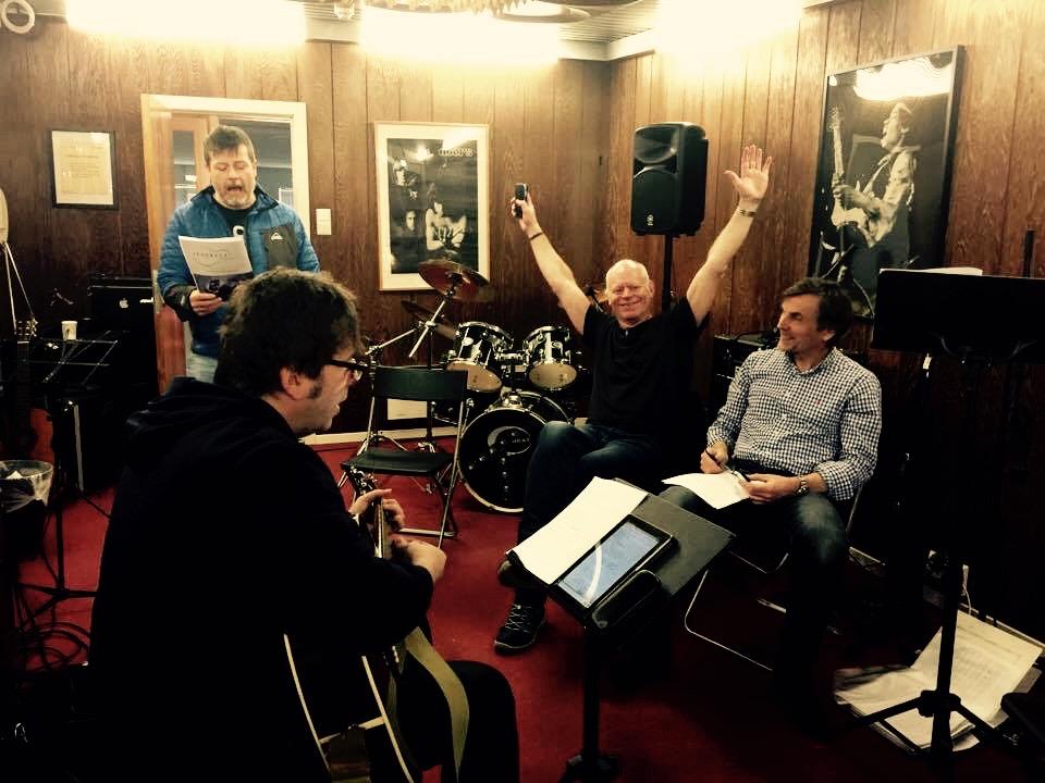 God stemning i Feedback Studios :)  Foto: Nina Misje Heggøy