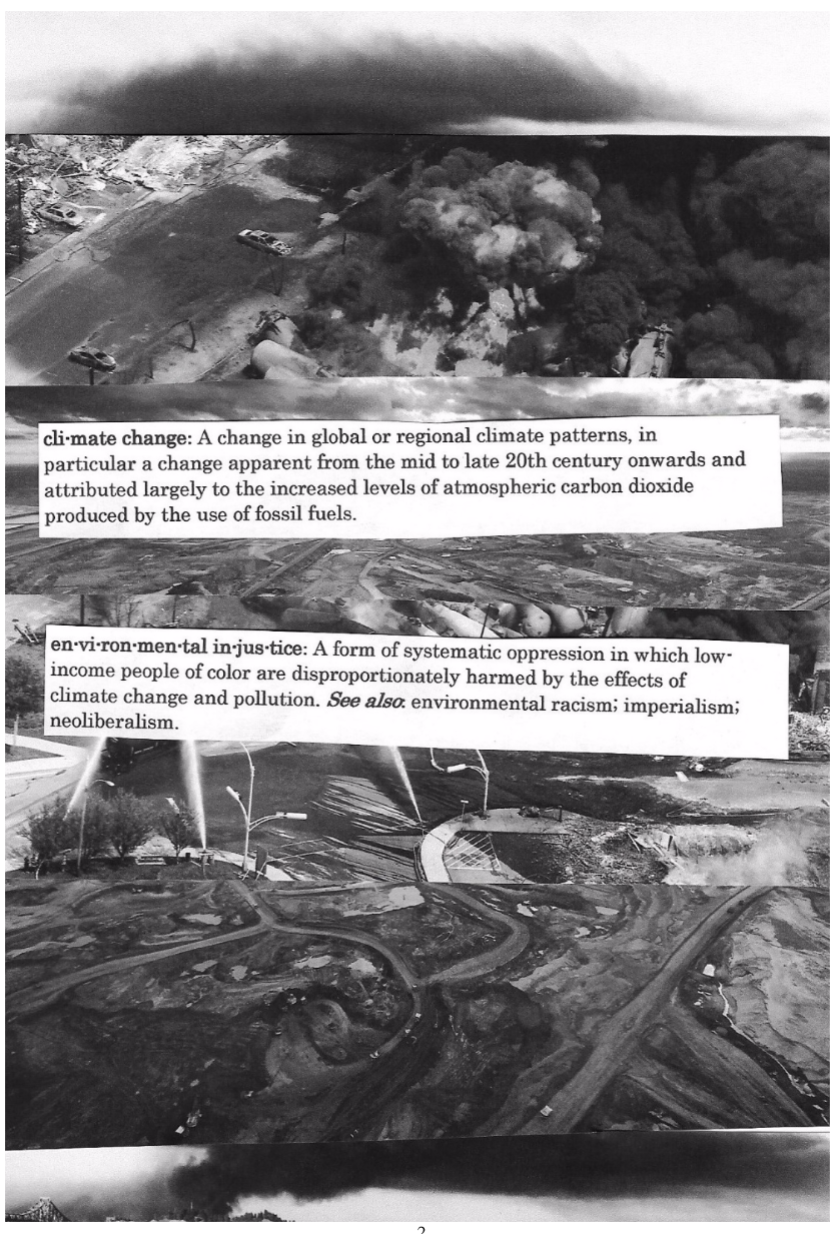 A page from an incredible divestment and climate justice zine made by our members. Click-through to read the whole thing!