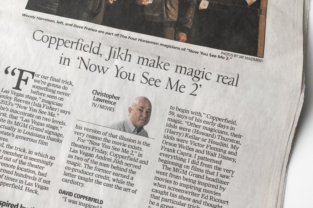 David Copperfield, Jikh make magic real in 'Now You See Me2'