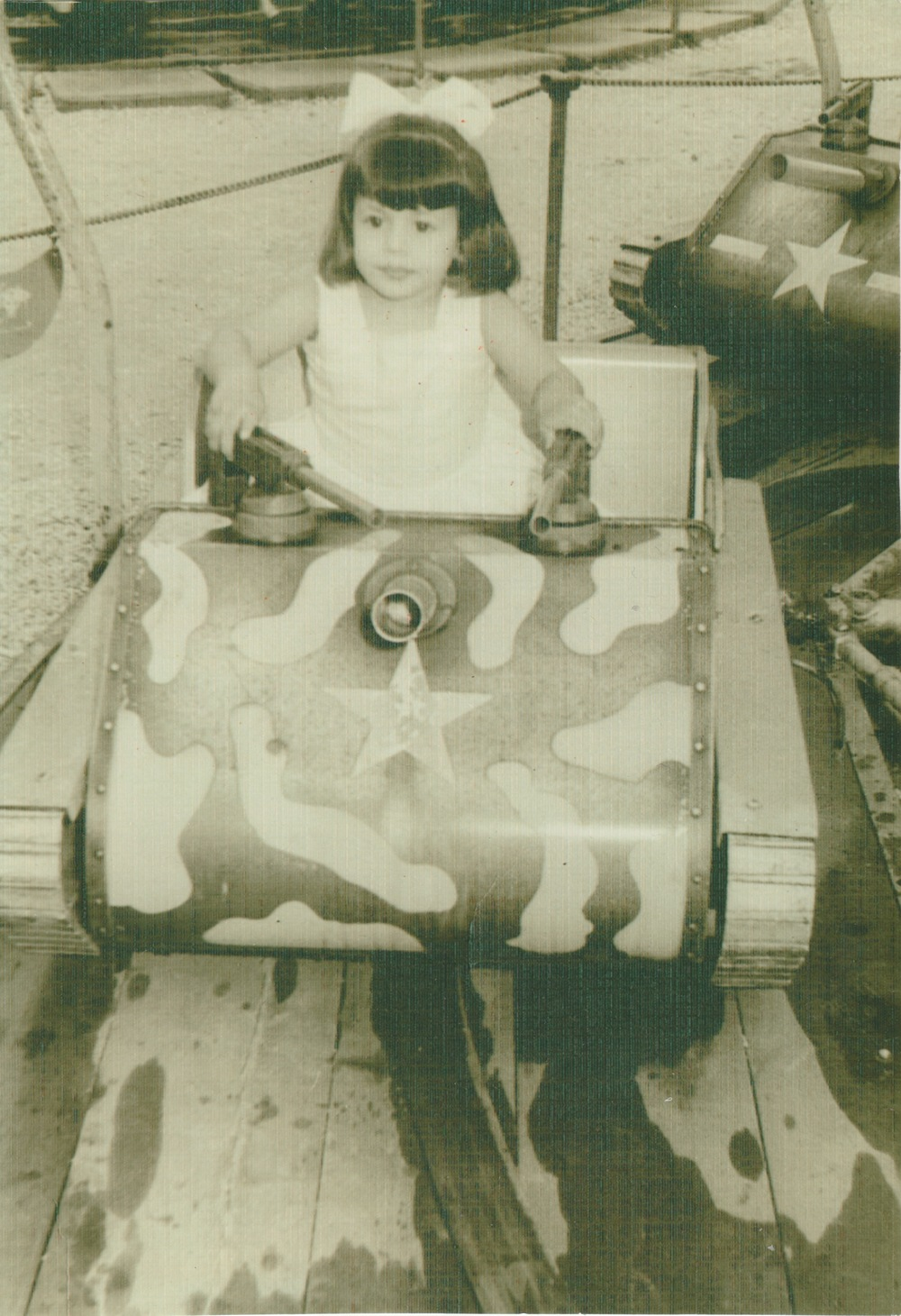 A childhood photo of my mother at around 3 years old.