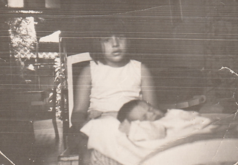 My mother and her sister Vivian in 1969. Vivian was several months old, and my mother was around seven.