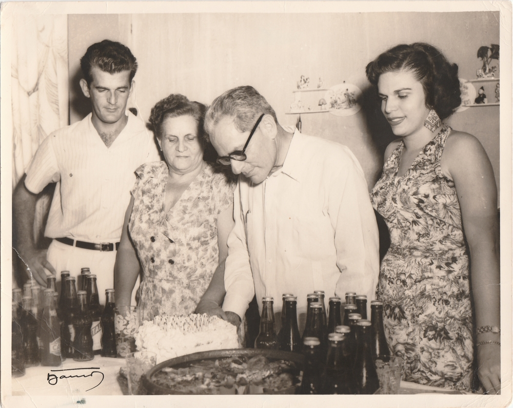 Miguel Aguilar, my grandfather pictured with his parents, Angel and Lola in Cuba in the early 1950's.