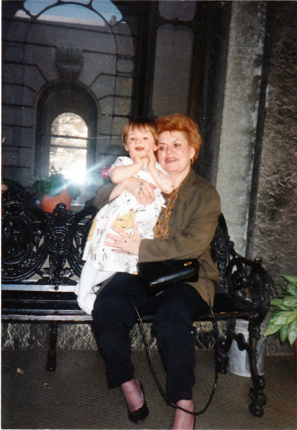 The second generation, in the United States. Celebrating my second birthday with my grandmother, Martha in July 1995 in New York City.