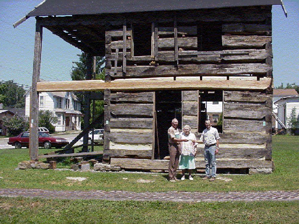 2000 -  Edgar B Stalnaker (left), Willetta Hinkle (middle)