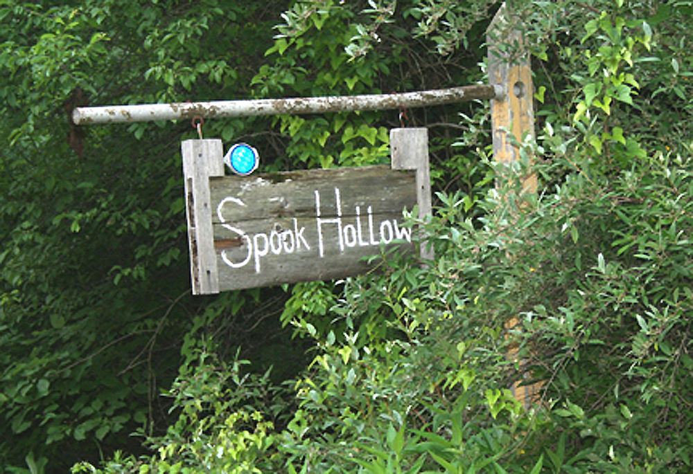 """The spot where the Indians killed Adam was in a hollow 3 miles from Beverly and the place became known as """"Spook Hollow"""". Located on Old 219 or Country Club Road which is south on 219 from Elkins. Turn right at Country Club road and go 1.3 miles to see the marker on the right."""