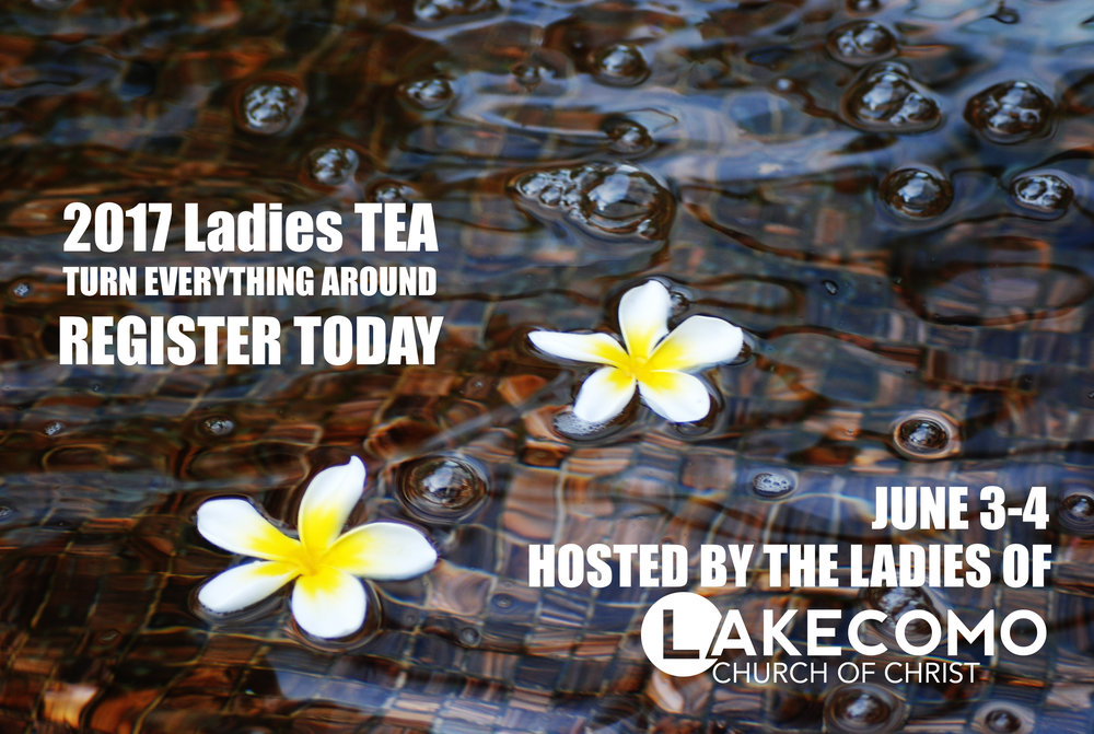 Click the link below to find our more and register for this great event. We can't wait to see you at THIS YEAR'S LADIES' T.E.A!