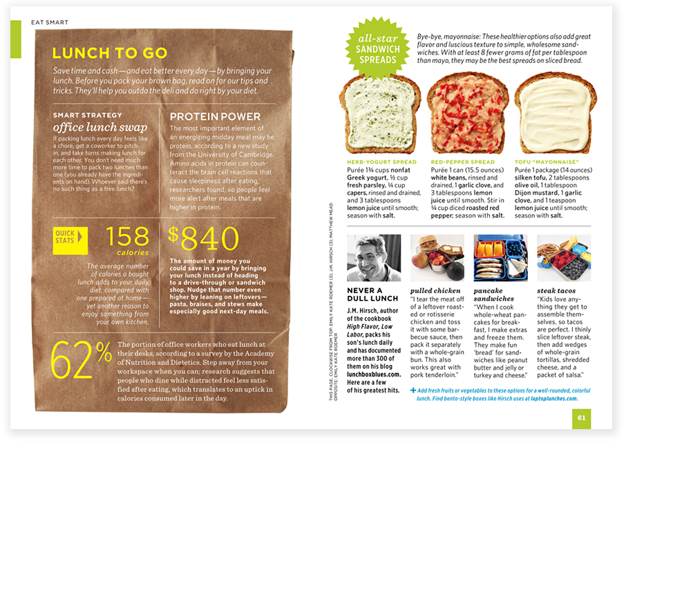 FRONT OF BOOK  EVERYDAY FOOD  MAGAZINE PHOTO ART DIRECTION & LAYOUT