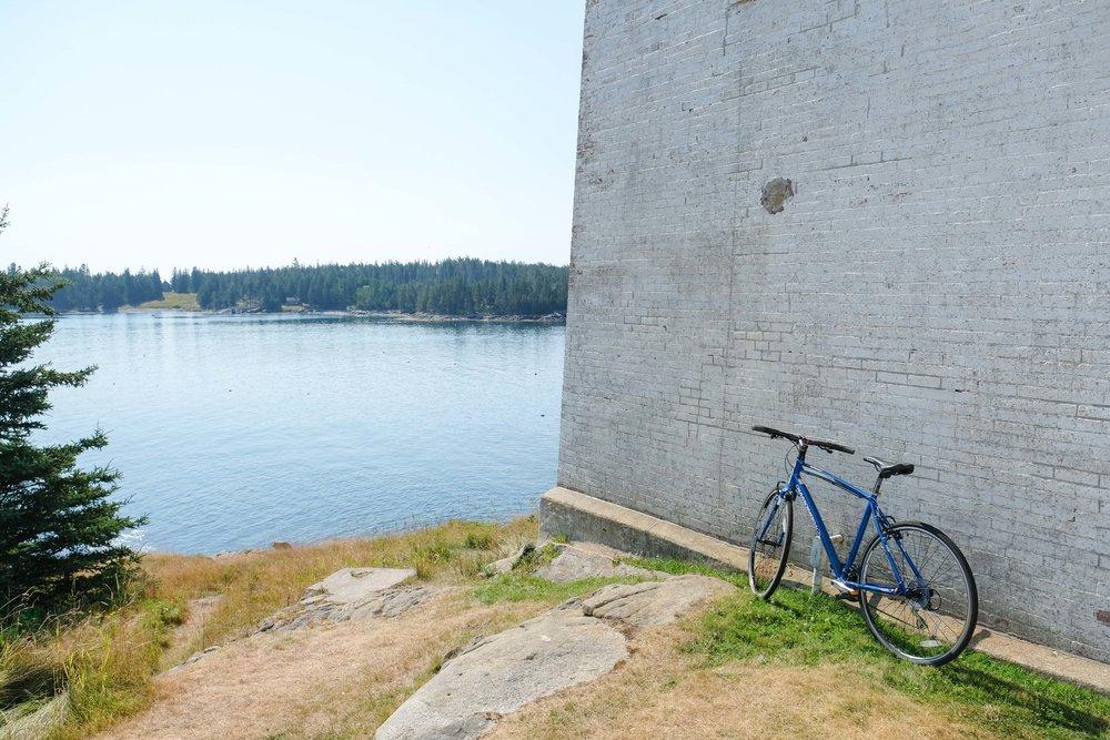 Biking Swans island, Maine - August 7th, 2017