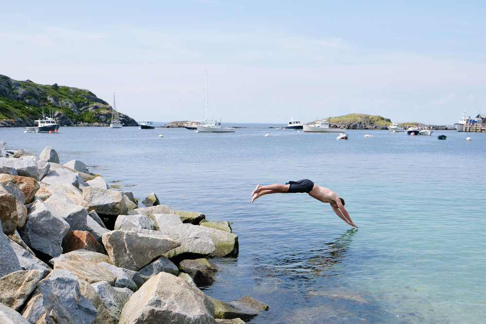 monhegan swimming