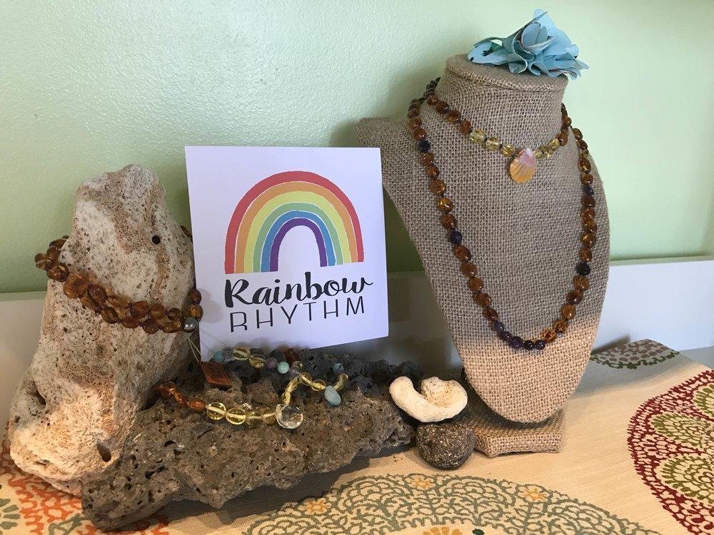 Rainbow Rhythm Amber Necklaces