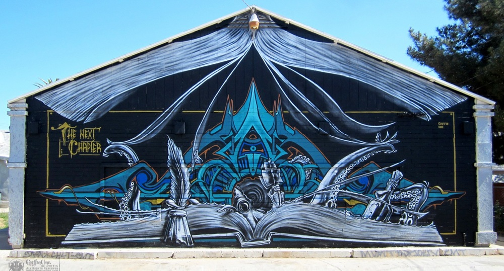 One of Sean's murals