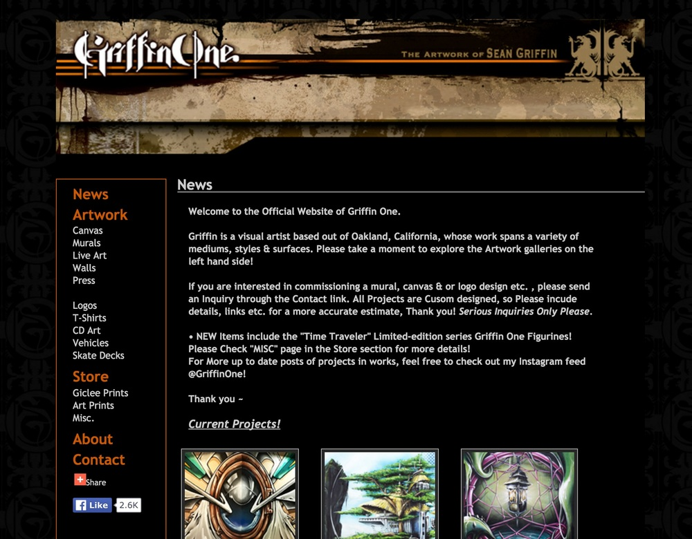 The OLD landing page